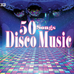 3CD-50-Songs-Disco-Music-Gloria-Gaynor-Donna-Summer-Dance-Music