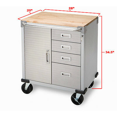 NEW Tool Box!Seville Classics Ultra Heavy Duty Rolling Cabinet Chest W/4-Drawers