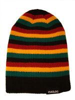 Striped Reggae Rasta Knit Beanie Cap Hat Caps Hats Black Red Gold Green
