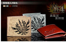 NEW Monster Hunter 4 Capcom Purse Anime Cosplay Wallet Purse - 3 colors