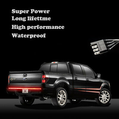 "60"" Inch Flexible 5-Function LED Strip Tailgate Bar Brake Signal Light Truck SUV"