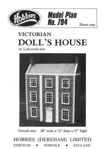 Hobbies Victoriano Modelo muñeca de la casa de los planes de 12 Escala