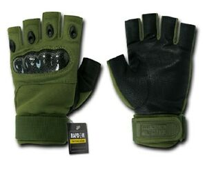 Us-Half-Doigt-Armee-Militaire-Knuckle-Forces-Speciales-Gants-Od-Vert