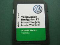 VW SEAT SKODA SAT NAV NAVIGATION RNS 310 SD CARD MAP 2016 UPDATE V8 VERSION 8
