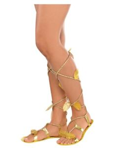 a0406922470f6 Image is loading Egyptian-Greek-Roman-Goddess-Sandals-Adult -Costume-Accessory-