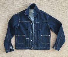 RRL *Made In Japan* Pleated, Buckle Back Selvedge Denim Jean Jacket (Mens M)