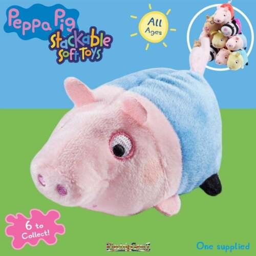 Peppa Pig empilable 10 cm Soft Toys-Peppa le frère George
