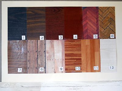 Beautiful Faux 'Wood' Floors for Diorama Rooms - Many Varieties, Grains, Colors