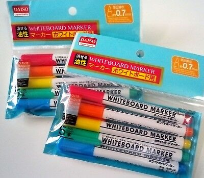 10pc fine 0.7mm tip rainbow color colorful small whiteboard marker pen