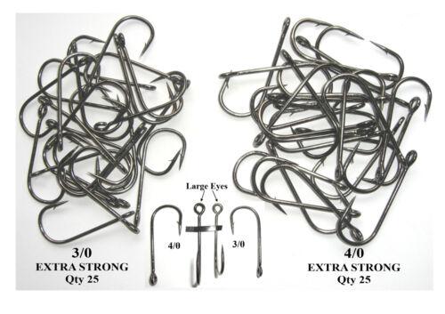 total of 50 new hooks SEA FISHING HOOKS 25 x 3//0 and 25 x 4//0