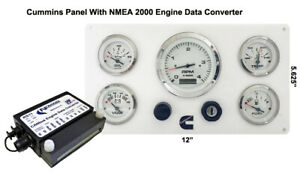 Details about **Cummins Marine Instrument Panel NMEA 2000 Engine Data  Converter Package White