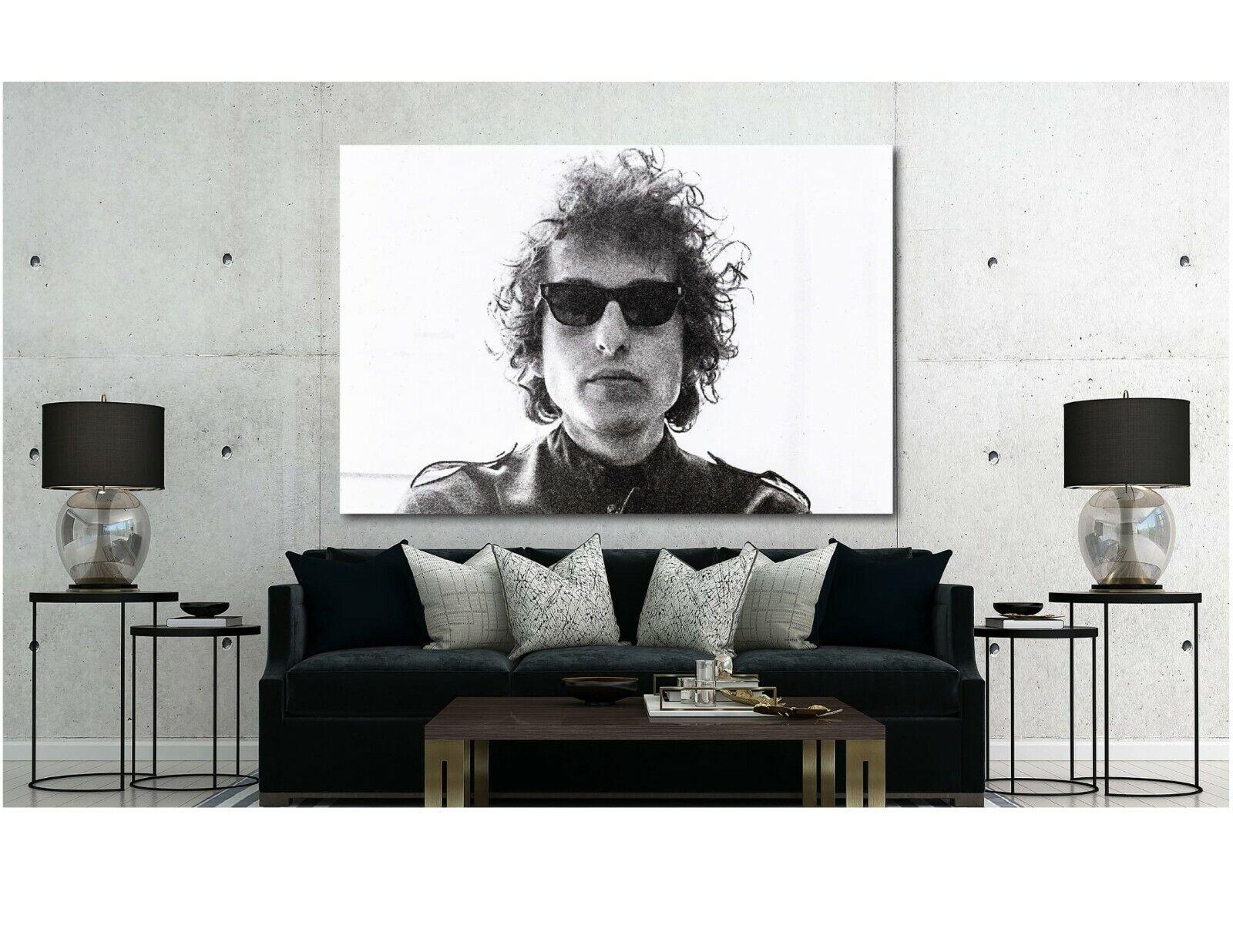 Bob Dylan - Canvas Wall Art Print - Various Größes