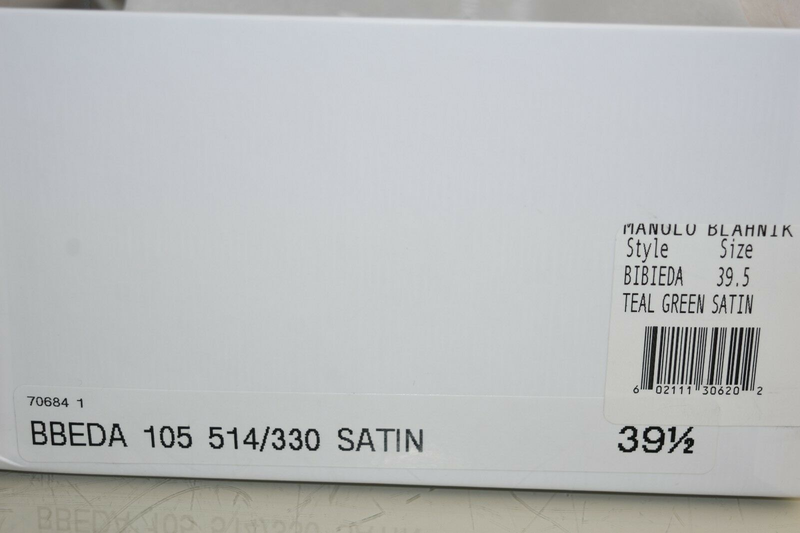 $840 NEW Manolo Blahnik BIBIEDA 105 BB Pumps Satin 36.5 Teal schuhes 36.5 Satin 39.5 40.5 41 a2e750
