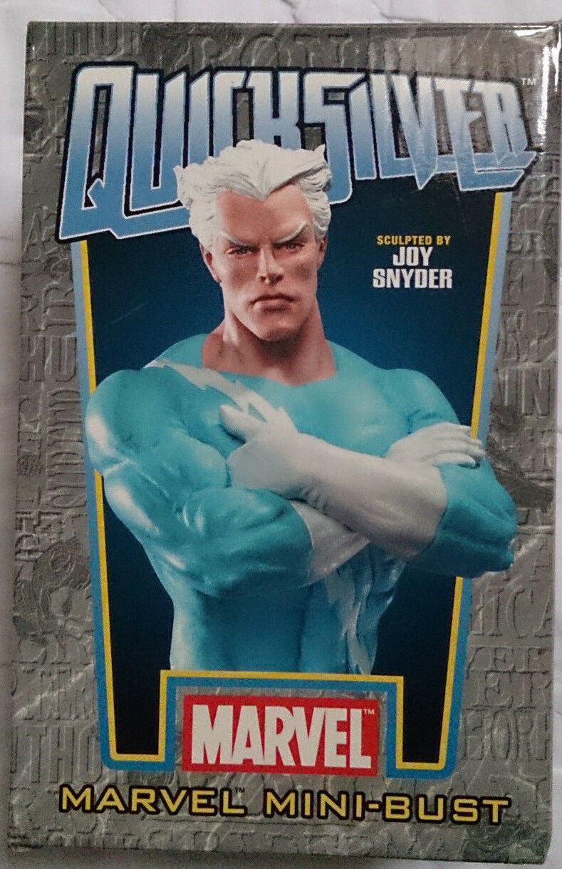Marvel Comics Bowen X-Men Avengers QuickPlata Mini estatua Busto Con Caja