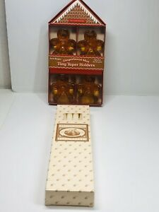 Williams-Sonoma-Gingerbread-Man-Tiny-Taper-Holder-And-Twelve-10in-Taper-Candles