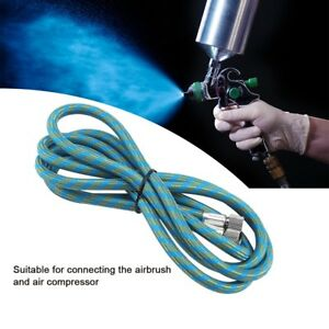 1-8M-Braided-Airbrush-Hose-Compressor-Air-Tool-1-8-034-to-1-8-034-Adaptor-Fitting-Kit