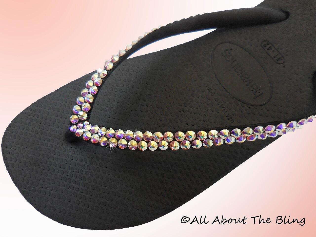 Havaianas flip flops SLIM  with Swarovski Crystals rhinestone wedding bride