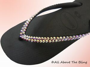 d988906f9 Image is loading Havaianas-flip-flops-SLIM-with-Swarovski-Crystals -rhinestone-