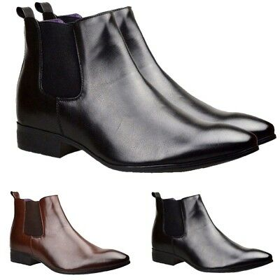 Mens Chelsea Boots Winter Ankle Italian Leather Smart Formal Wedding Shoes Size Kann Wiederholt Umgeformt Werden.