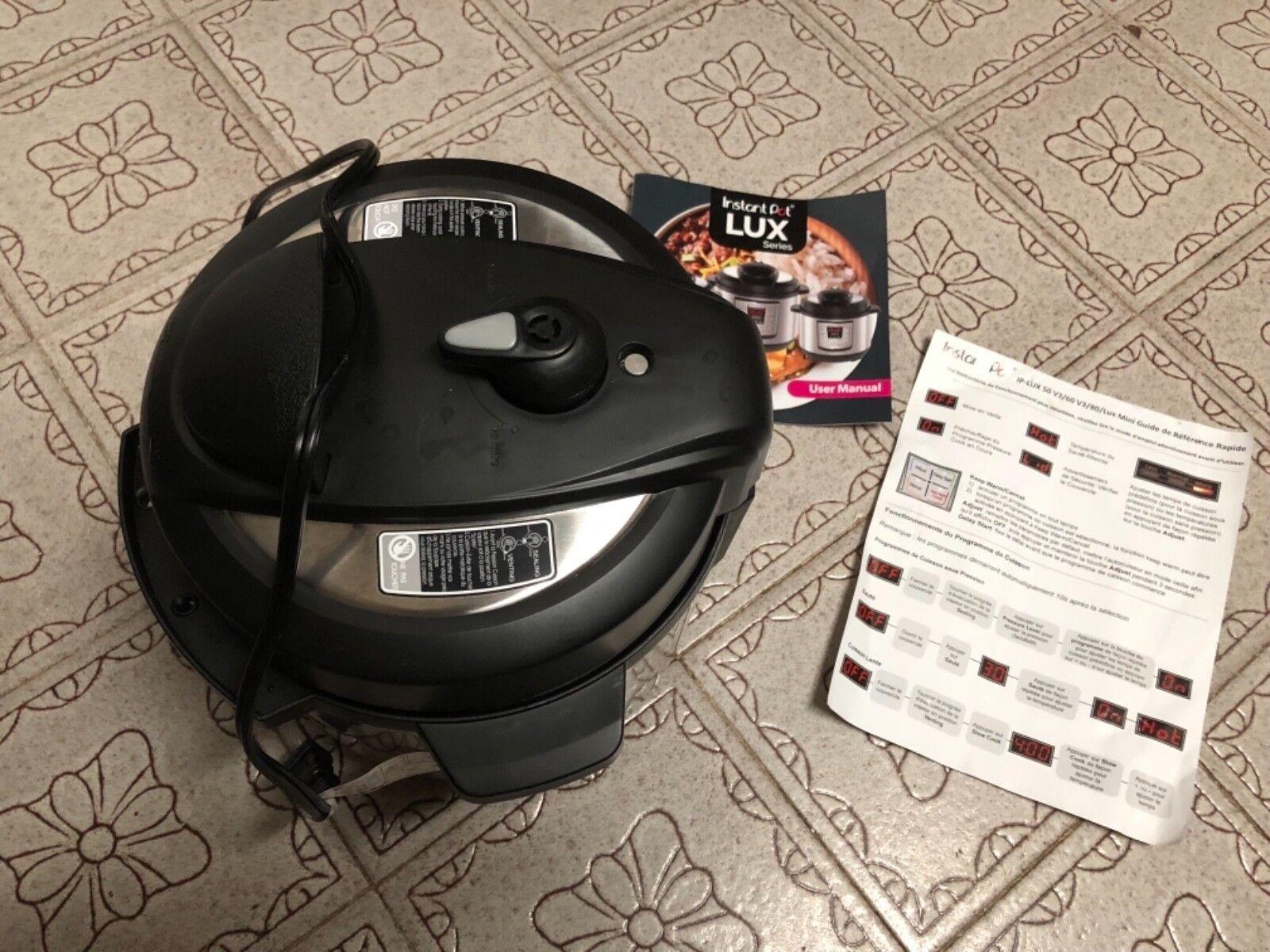 Instant Pot LUX50 V3 6-in-1 6 Quart Programmable Pressure Cooker