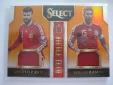 GERARD PIQUE & SERGIO RAMOS PANINI SELECT CHROME PRIZM EURO 2016 JERSEY CARD