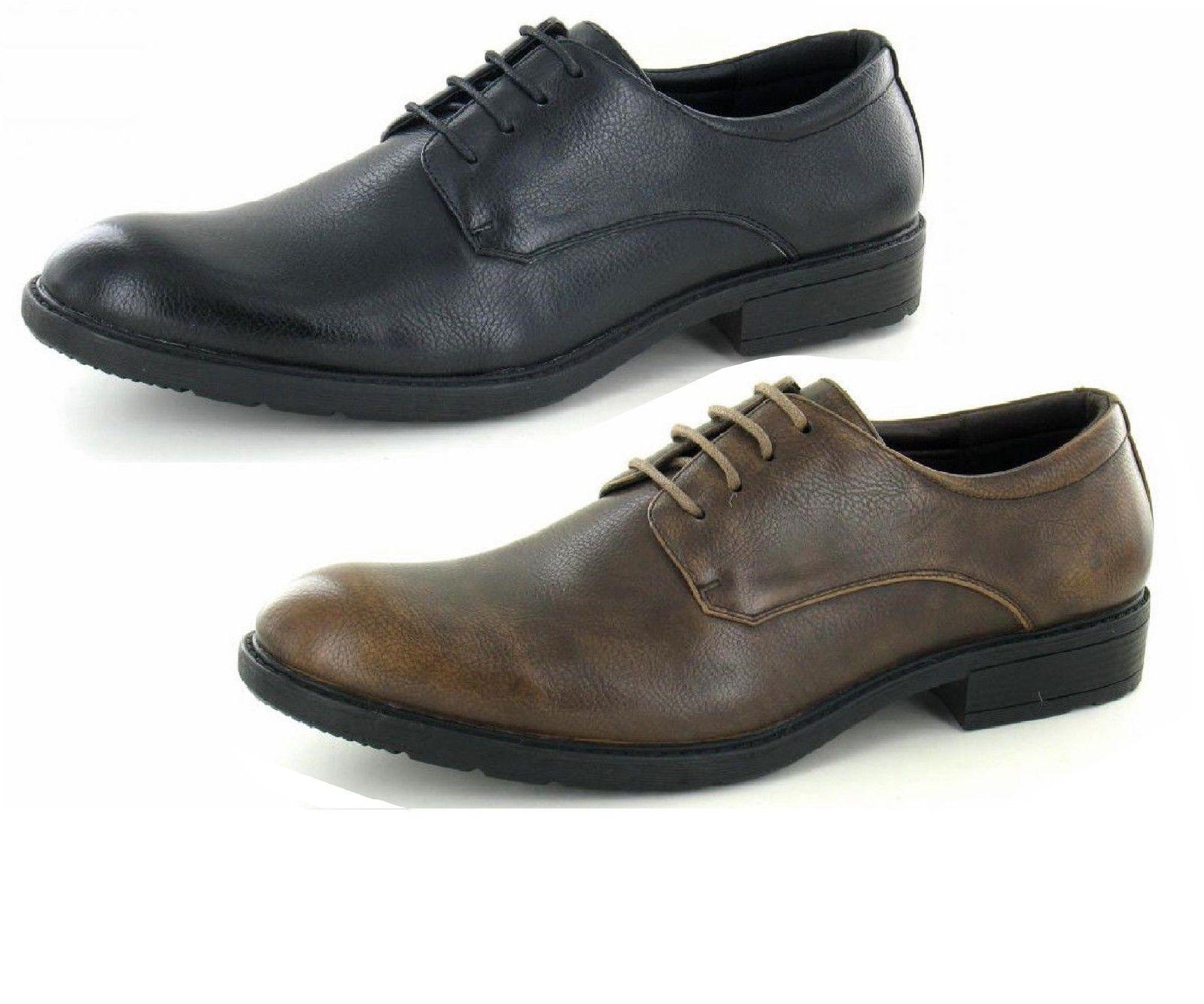REBAJAS Zapato Hombre a2128 Sintético Con Cordones Zapato REBAJAS de vestir negro/marrón de a22712