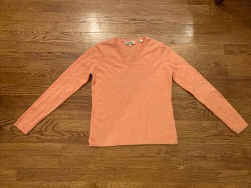 Lot 2 PETER MILLAR Women's S V-neck Sweaters Peach