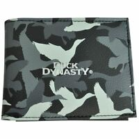 A&e Television Series Duck Dynasty Ducks Camouflage Bifold Mens Wallet Black