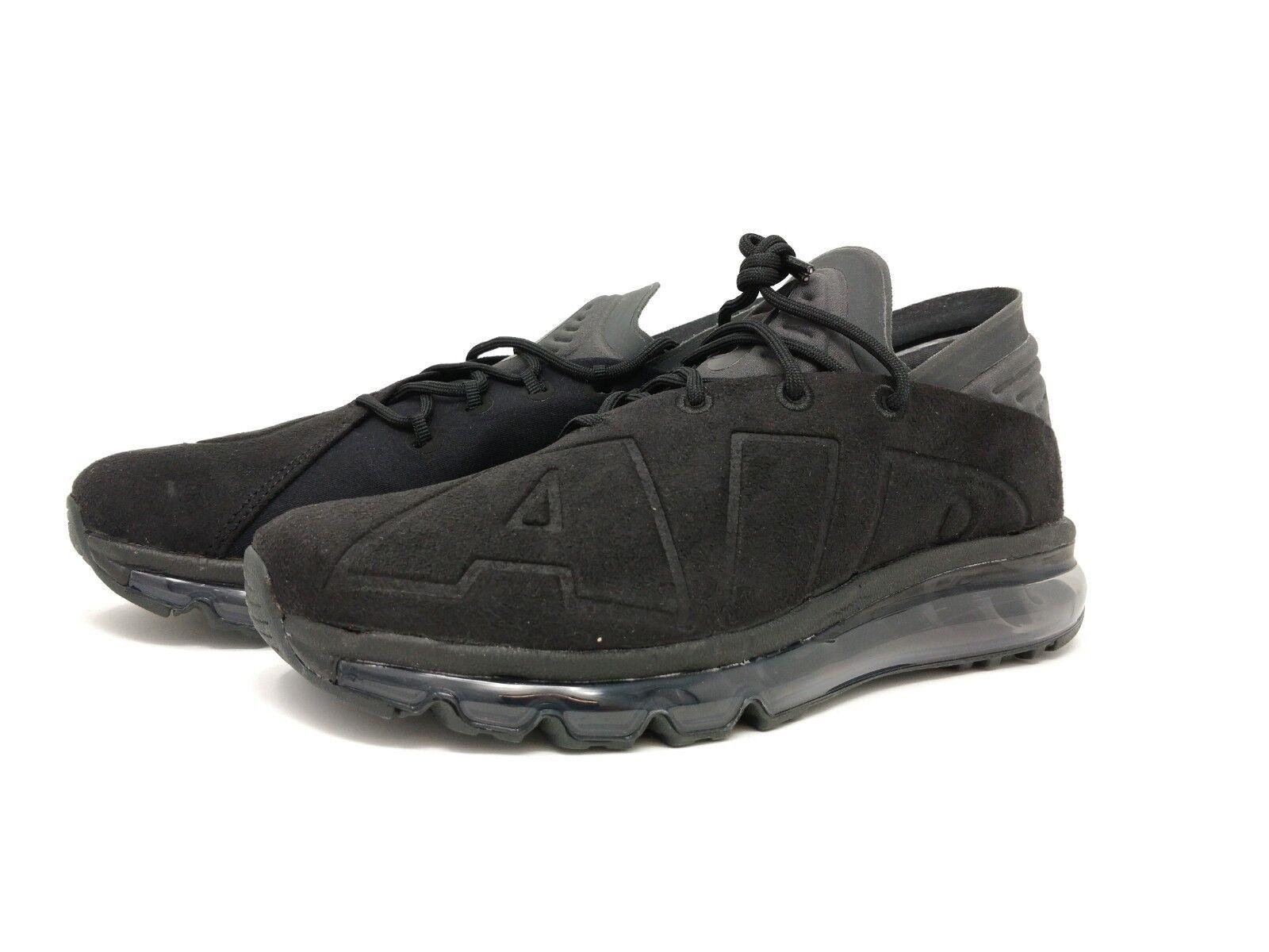 New Hommes Max Nike Air Max Hommes Flair Baskets UK taille 6   triple en daim noir 961d83