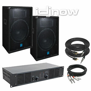 gemini gt 1504 15 inch dj passive pa speaker system amplifier sound package ebay. Black Bedroom Furniture Sets. Home Design Ideas