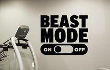 Beast Mode Wall Decal Fitness Motivational Gym Vinyl Sticker Decor Mural 53fit
