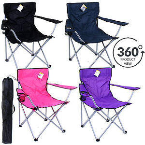 Camping-Chair-Outdoor-Fishing-Garden-Folding-Foldable-Seat-Portable-Lightweight
