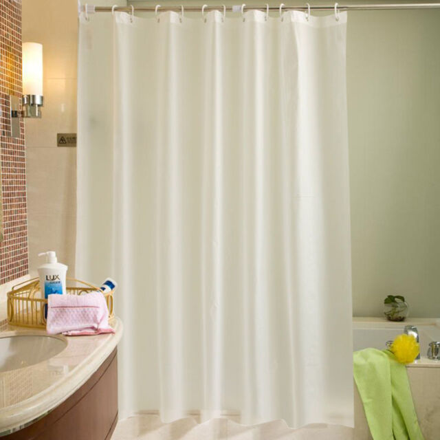 Fabric Shower Curtains Plain White Extra Wide Long Standard 12