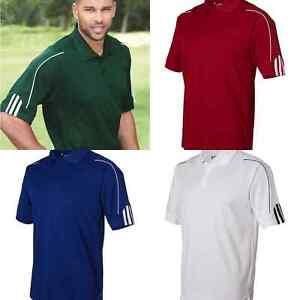 Adidas-A76-Men-039-s-Climalite-3-Stripes-Cuff-Sport-Golf-Polo-Shirt-Size-S-4XL