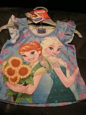 GIRLS LEGGINGS + DISNEY FROZEN TOP T-SHIRT 9-12 MONTHS 74-80CM - NEW WITH TAGS
