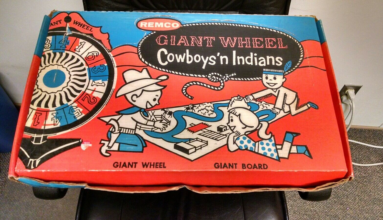 1958 Remco Giant Wheels Cowboys 'n Indians Game Style No 803