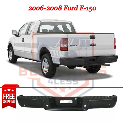 Powdercoated Black Steel Step Bumper For 2009-2014 Ford F-150 Styleside