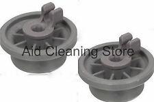2 x Dishwasher Lower Basket Rail Wheels For Bosch Neff & Siemens Grey 00 165314
