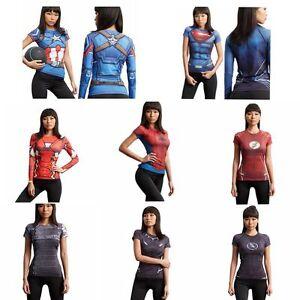 Lady S Marvel Superhero Compression T Shirt Women Costume Cycling