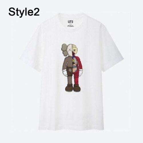 Herren Damen T-Shirt 2019 Neu KAWS × UNIQLO UT Collaboration BFF Kurzarm TShirt