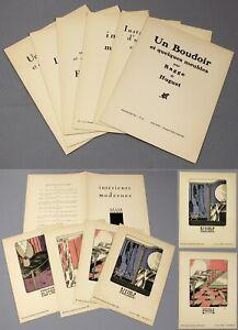 1920-21 | Gazette du Bon Ton | 6 scarce supplements | with colour pochoir prints