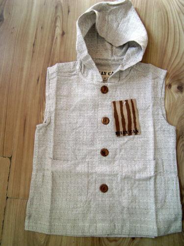 Kids Boy//Girl Hood Hoodie Lightweight Hooded Gilet Sleeveless Vest Top 5-12 yrs