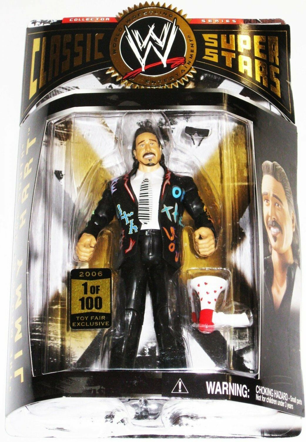 WWE CLASSIC SUPERSTARS JIMMY HART 1 OF 100 1 100 TOY ACTION FIGURE MOC