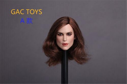 1//6 GACTOYS GC007 Beauty European Girl Keira Knightley Head Carving Toy
