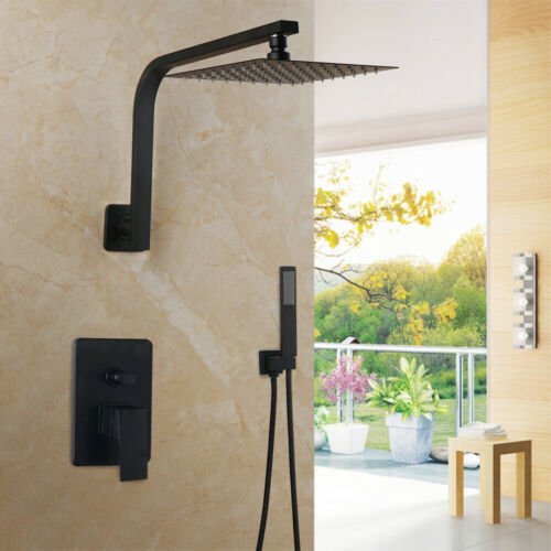 "12/""Bathroom Shower Faucet Set Rainfall Head+Mixer Taps Wall Mounted Faucet Set"
