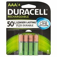 Duracell Dx2400 Rechargable Ni-mh Batteries Aaa 4/pack 850 Mah