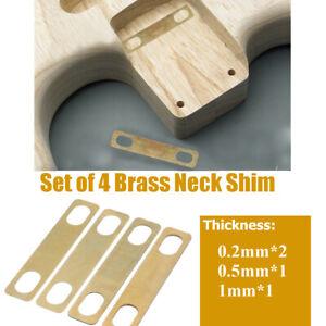 Set Mit 4 Messing Hals Unterlegscheiben Für Gitarre Bass Dicke 0.2mm 0.5mm 1mm!