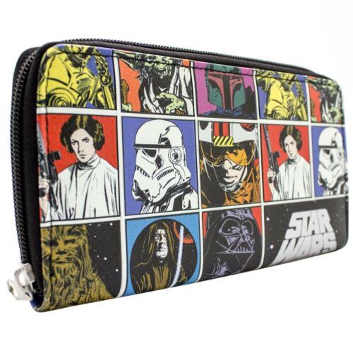 Star Wars Ursprüngliche Retro Schwarz Portemonnaie Geldbörse