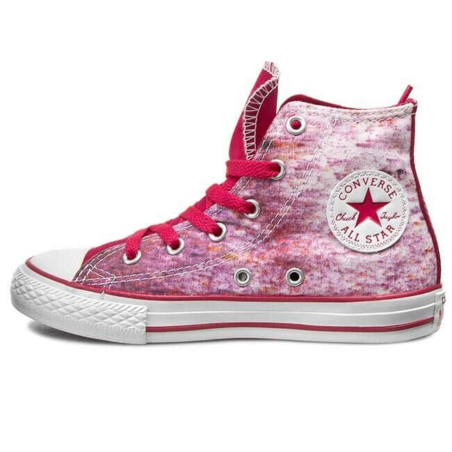 Converse Chuck Taylor Hi All Star 647643C Berry Pink / White  SIZE 6