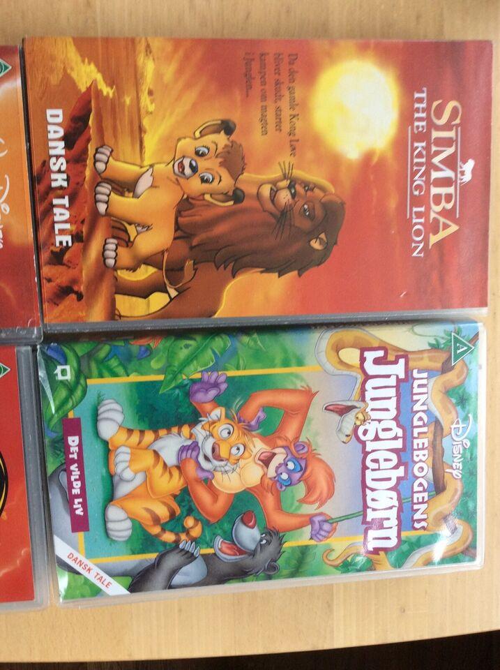 Børnefilm, WHS film. Løvernes konge 1/2 og Junglebørn,